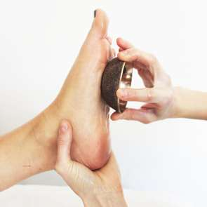 Foot Massage with Copper Bowl